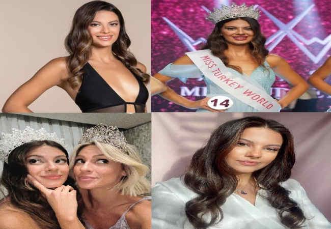 Dilara Korkmaz Türkiye'nin en guzel Miss Turkey unvanini aldi.