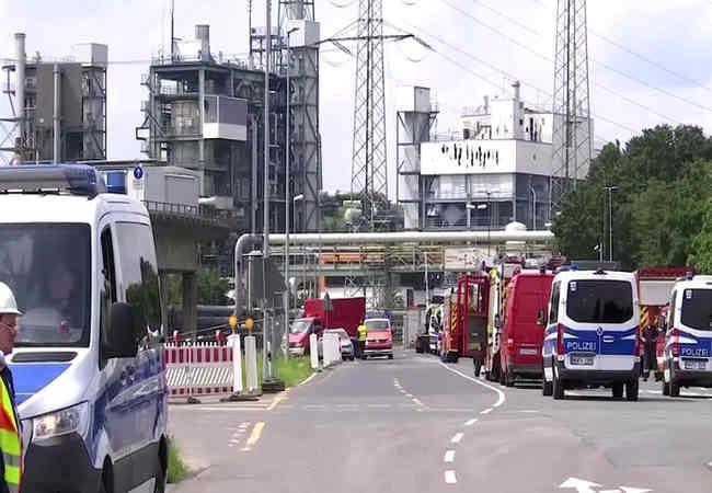 Almanya,nin Kimya Parkı'ndaki patlama herkesi paniye soktu