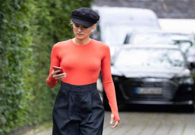 Hollywood film yıldızı Diane Kruger Düsseldorf'ta Geziyor
