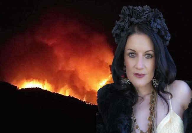 Şarkıcı Jehan Barbur yanan Hayvanlar icin atiyor.