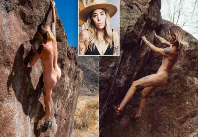 Çıplak kaya tırmanıcısı porno değil, sanattır diye ısrar ediyor