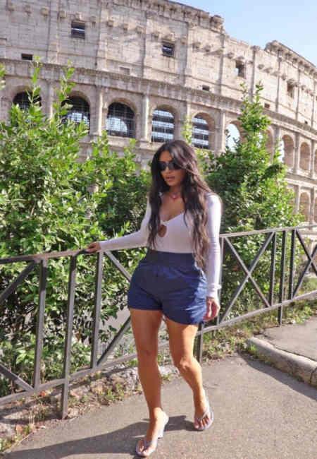 Kim Kardashian Roma Gezintisi,ni sosyal medyada paylasti. Magazin haberler